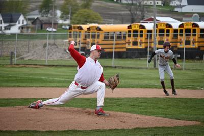 Ethan Malone pitching