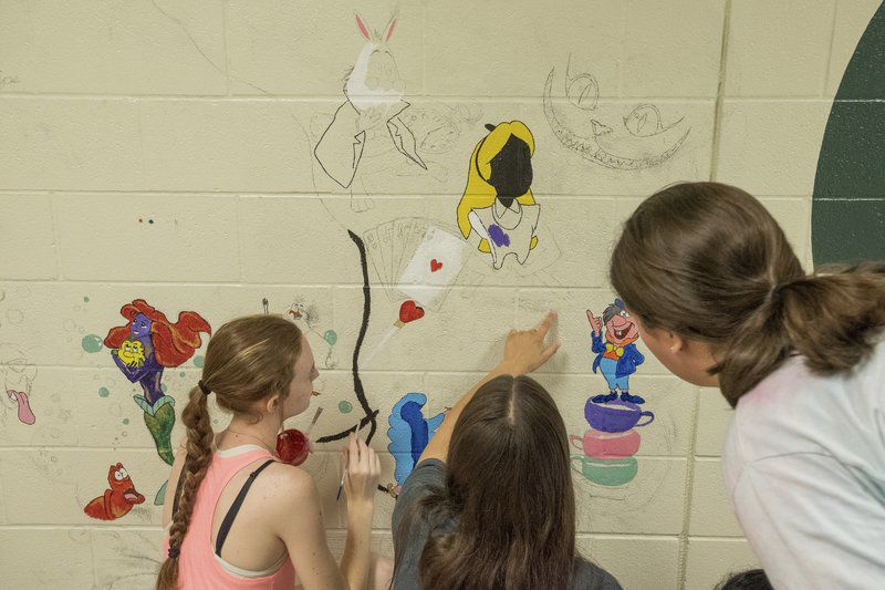 PHOTOS: Students paint murals over summer