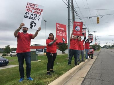 Local AT&T workers join strike