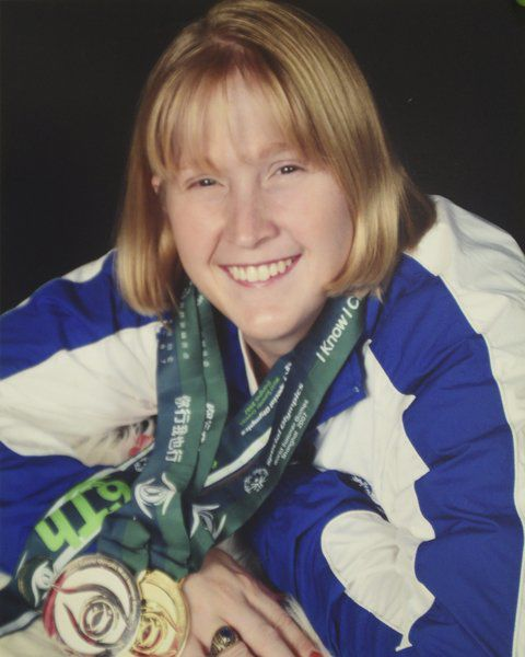 Jessica Crook is one of three local Special Olympians honored with trading cards