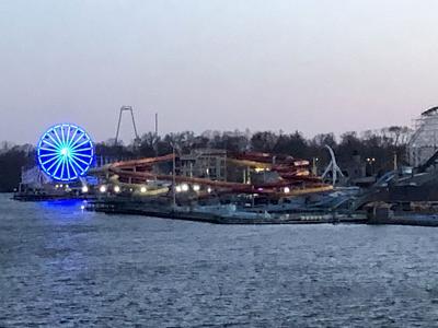 Indiana Beach at night April 2020