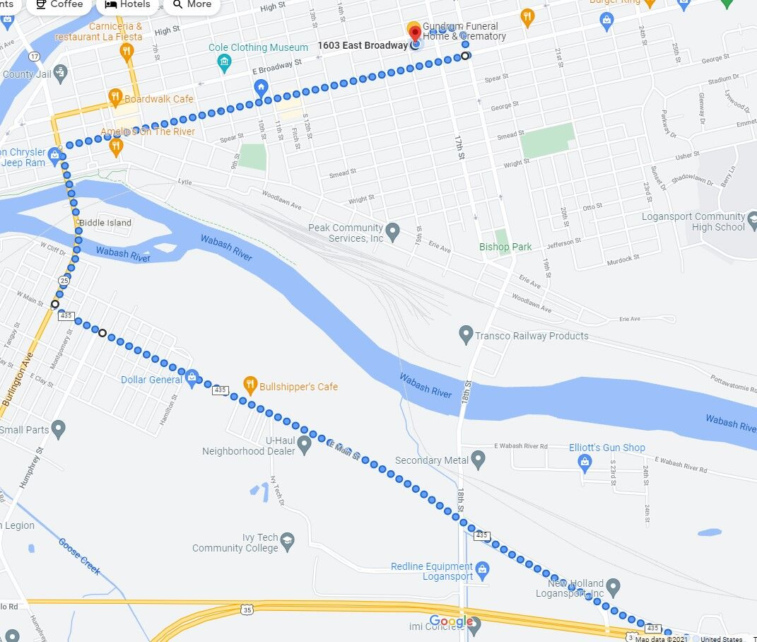 Procession route