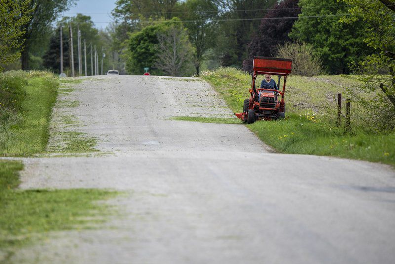 Grass clippings left in roads can lead to serious motorcycle
