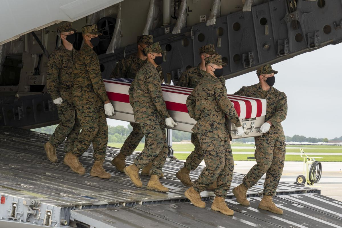 Marine Corps Cpl. Sanchez honored in dignified transfer August 29
