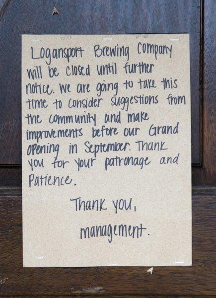 Logansport Brewing Co. closes