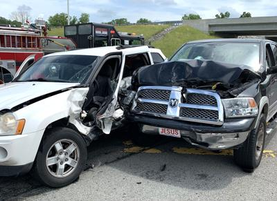 Crash injures two