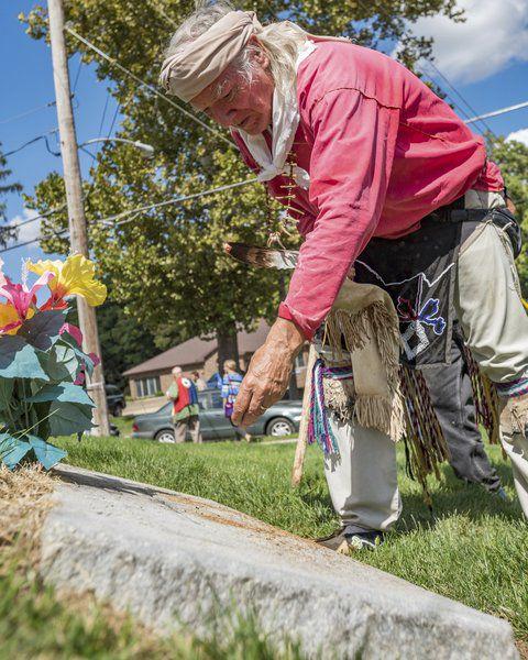 Potawatomi Trail of Death Commemorative Caravan passes