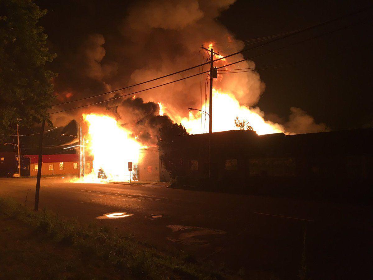 Fire at Closson Lumber