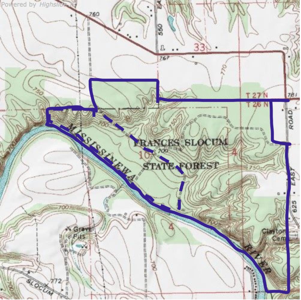 Frances Slocum map