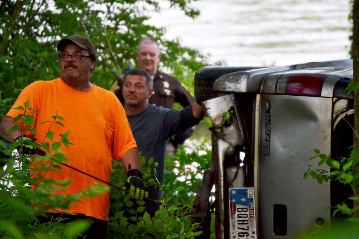 Vehicle in Wabash River