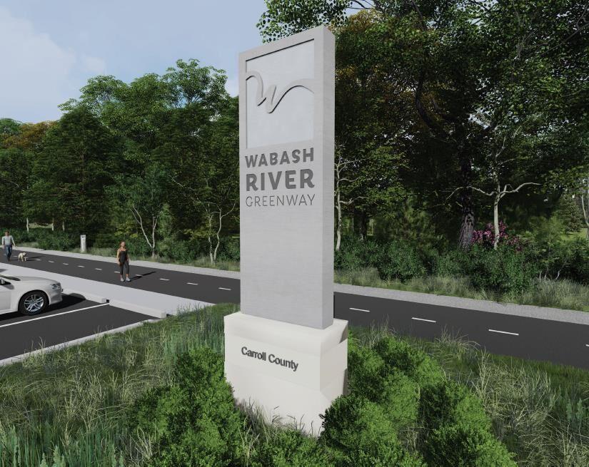 Wabash River Marker