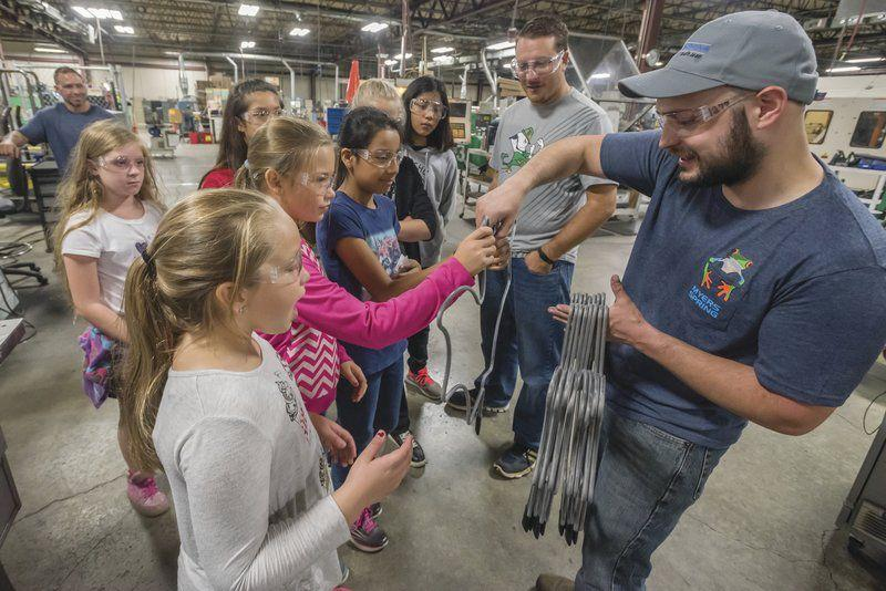 Hundreds of students tour Myers Spring during Manufacturing Day 2017