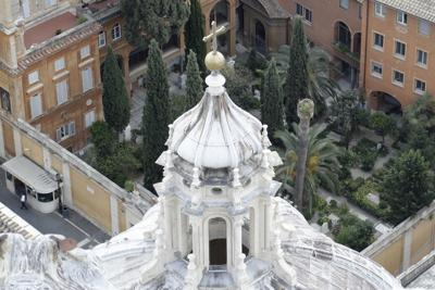 This July 10 file photo shows the view of the Teutonic Cemetery inside the Vatican. After opening a pair of tombs inside the cemetery after further investigation into the case of the 15-year-old daughter of a Vatican employee, Emanuela Orlandi, who disappeared in 1983 only to find that the tombs were empty, the Vatican said Saturday it discovered two ossuaries under a manhole that are now the subject of forensic investigation. — AP Photo/Gregorio Borgia