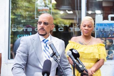Sen. Vincent Hughes and House Minority Leader Joanna McClinton