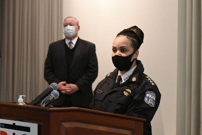 Philadelphia Police Commissioner Danielle Outlaw joined Mayor Jim Kenney