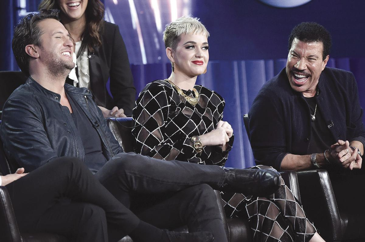 American Idol - Luke Bryan, from left, Katy Perry and Lionel Richie