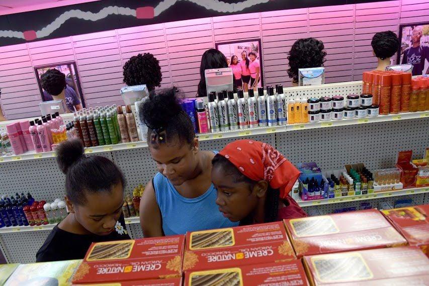 Young ladies shop at Hafiz Sisters