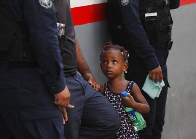 Children in detention center