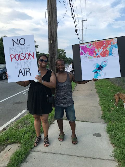 Gas plant protest