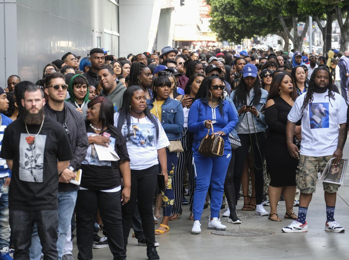 Nipsey Hussle, a hometown hero, immortalized at L A