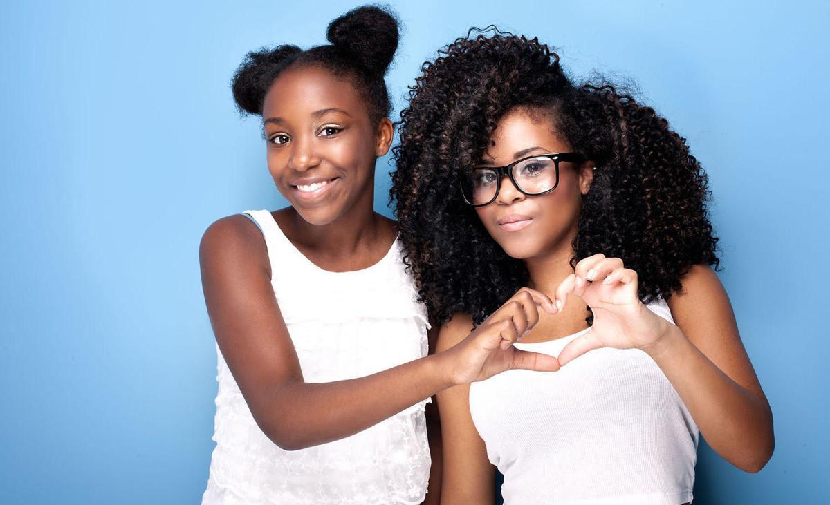 Two African American Teen Girls