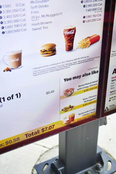 McDonald's screen displays recommendations