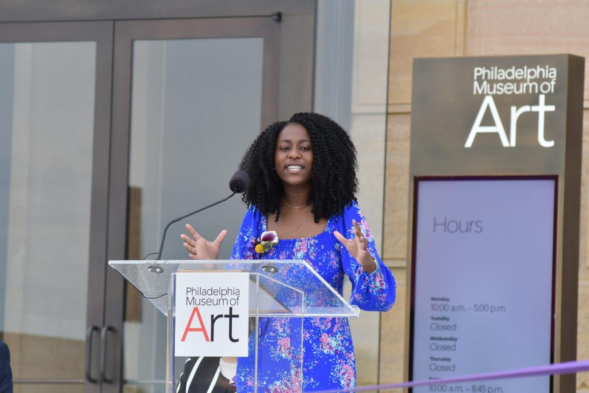 Philadelphia Youth Poet Laureate Cydney Brown at Philadelphia Museum of Art
