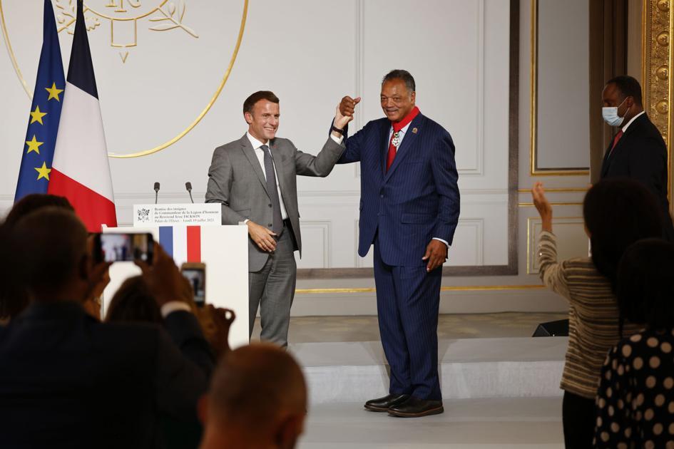 President of France honors Jesse Jackson