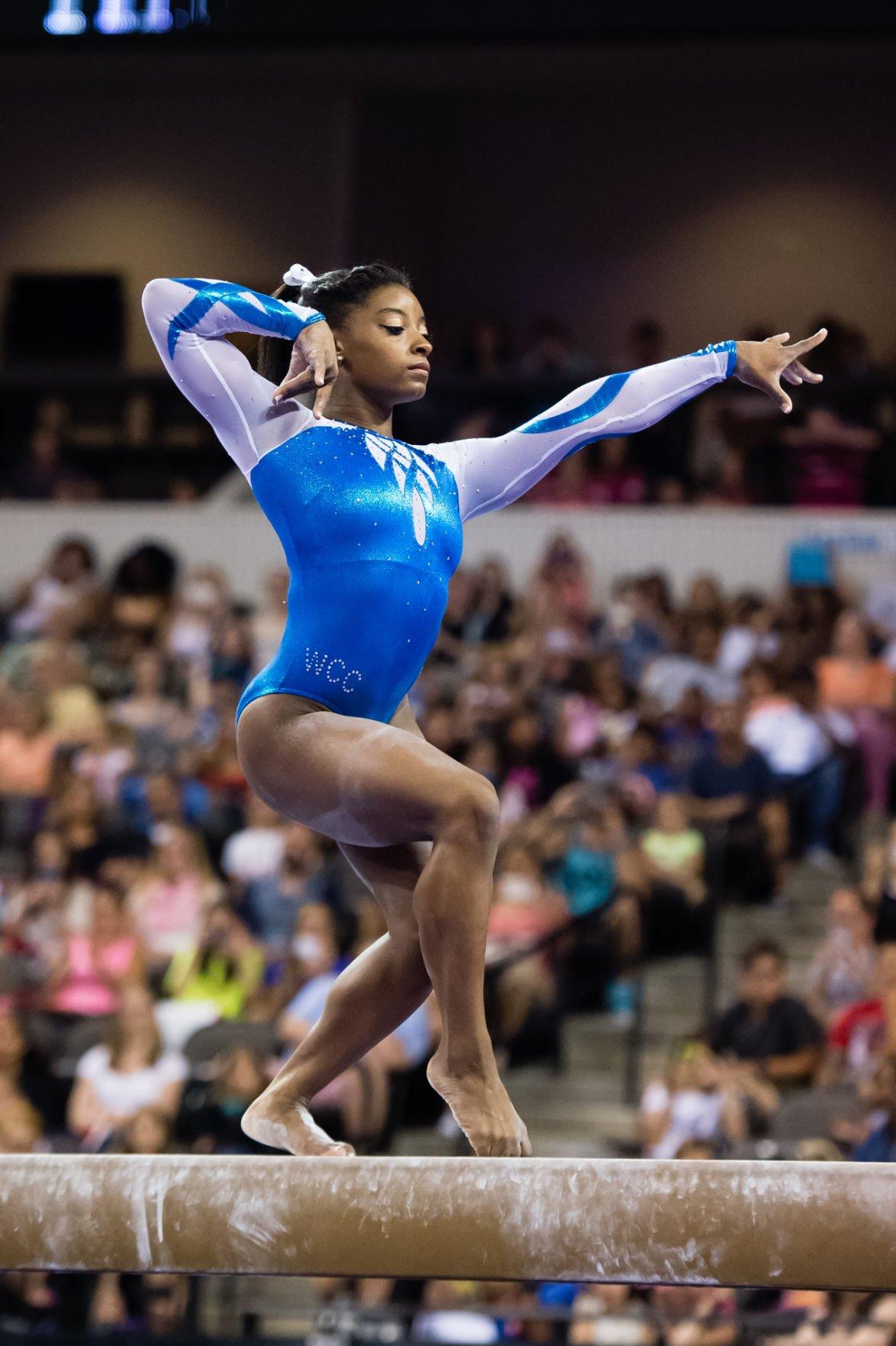 Gabby Douglas Simone Biles Vie For 2015 US Gymnastics