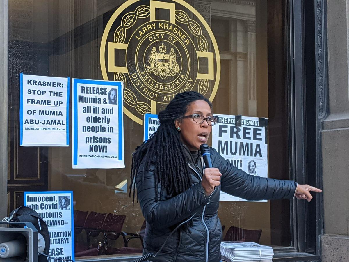 Johanna Fernandez, a supporter of Mumia Abu-Jamal