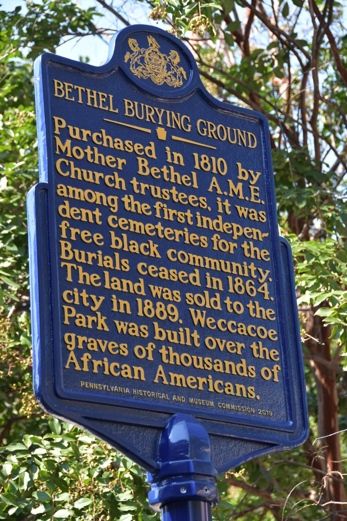 Bethel Burying Ground marker