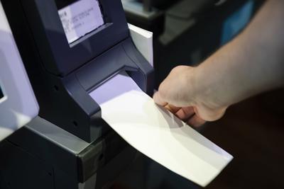 Voting machine demonstration