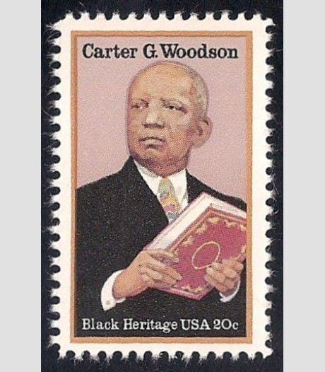 Carter G. Woodson postage stamp