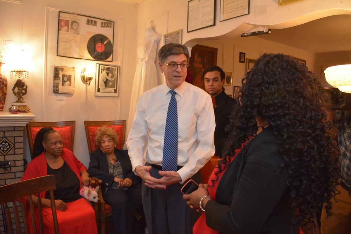 Secretary of Treasury tours Marian Anderson Museum