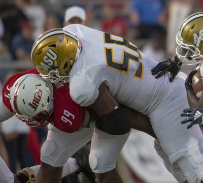 Tytus Howard, an offensive tackle from Alabama State, could be the first HBCU player selected in the 2019 NFL Draft.— PHOTO COURTESY OF ALABAMA STATE SPORTS DEPARTMENT