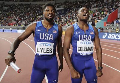 Noah Lyles and Christian Coleman