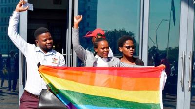 Botswana activist celebrate