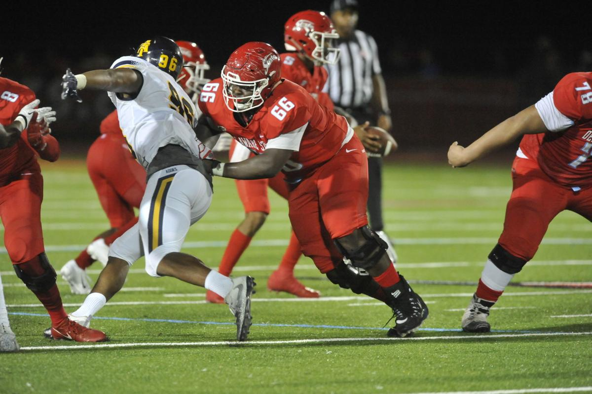 Kaiden Crawford played only one year of football at Simon Gratz High School. Now, he's being looked at as a possible NFL offensive lineman.