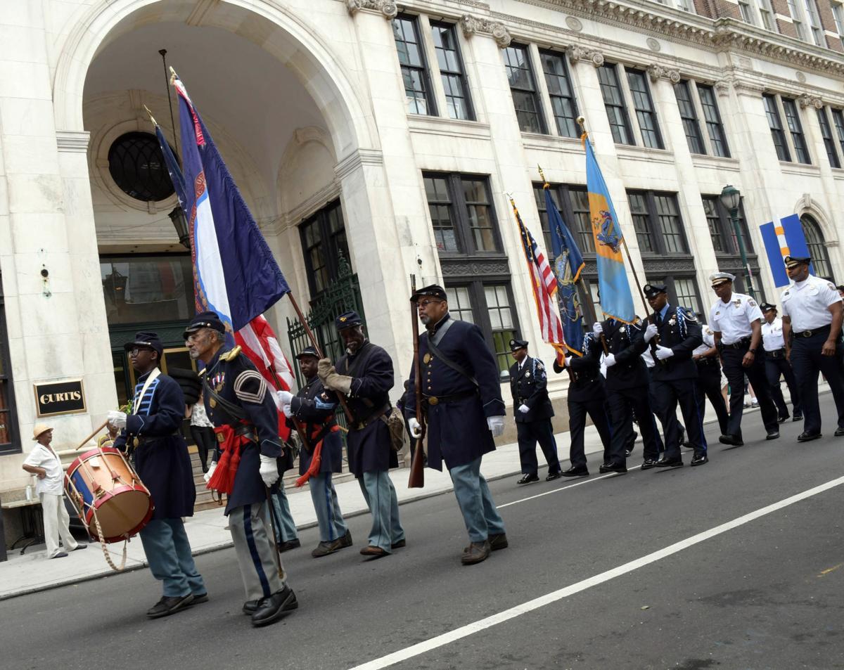 U.S. Colored Troop re-enactors