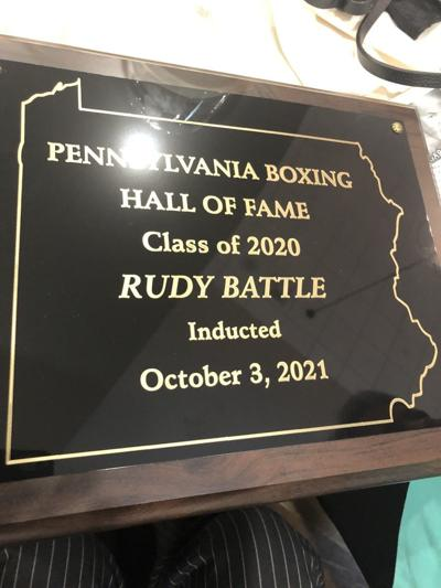 Rudy Battle's Hall of Fame plaque