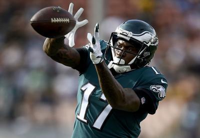Philadelphia Eagles wide receiver Alshon Jefferyis a big-play threat.  — AP Photo/Kelvin Kuo, File