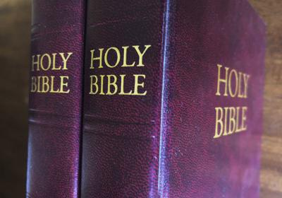 Bibles are displayed in Miami. Religious publishers say President Trump's most recently proposed tariffs on Chinese imports could result in a Bible shortage. That's because millions of Bibles, some estimates put it at 150 million or more, are now printed in China each year. Critics of a proposed tariff say it would not only make the Bible more expensive for consumers, it would also hurt the evangelical efforts of Christian organizations that give away Bibles as part of their ministry. — AP Photo/Marta Lavandier