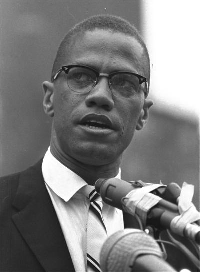 2336be6c66 Black Muslim leader Malcolm X is shown addressing a rally in Harlem