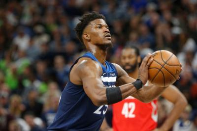 60e9a04053c Jimmy Butler will bring his scoring prowess from the Minnesota Timberwolves  in joining the Philadelphia 76ers  lineup in two- for four-player trade. —  AP ...