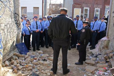 Cops in Kensington