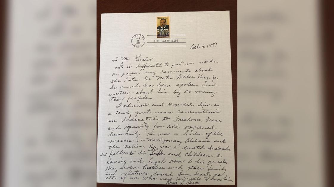 Rosa Parks' handwritten letter about Martin Luther King Jr. goes up for sale