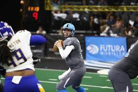 Soul quarterback Dan Raudabaugh, has played in four ArenaBowls. He ranks second in ArenaBowl history in passing yards and touchdowns. — PHOTO COURTESY OF ARENA FOOTBALL LEAGUE
