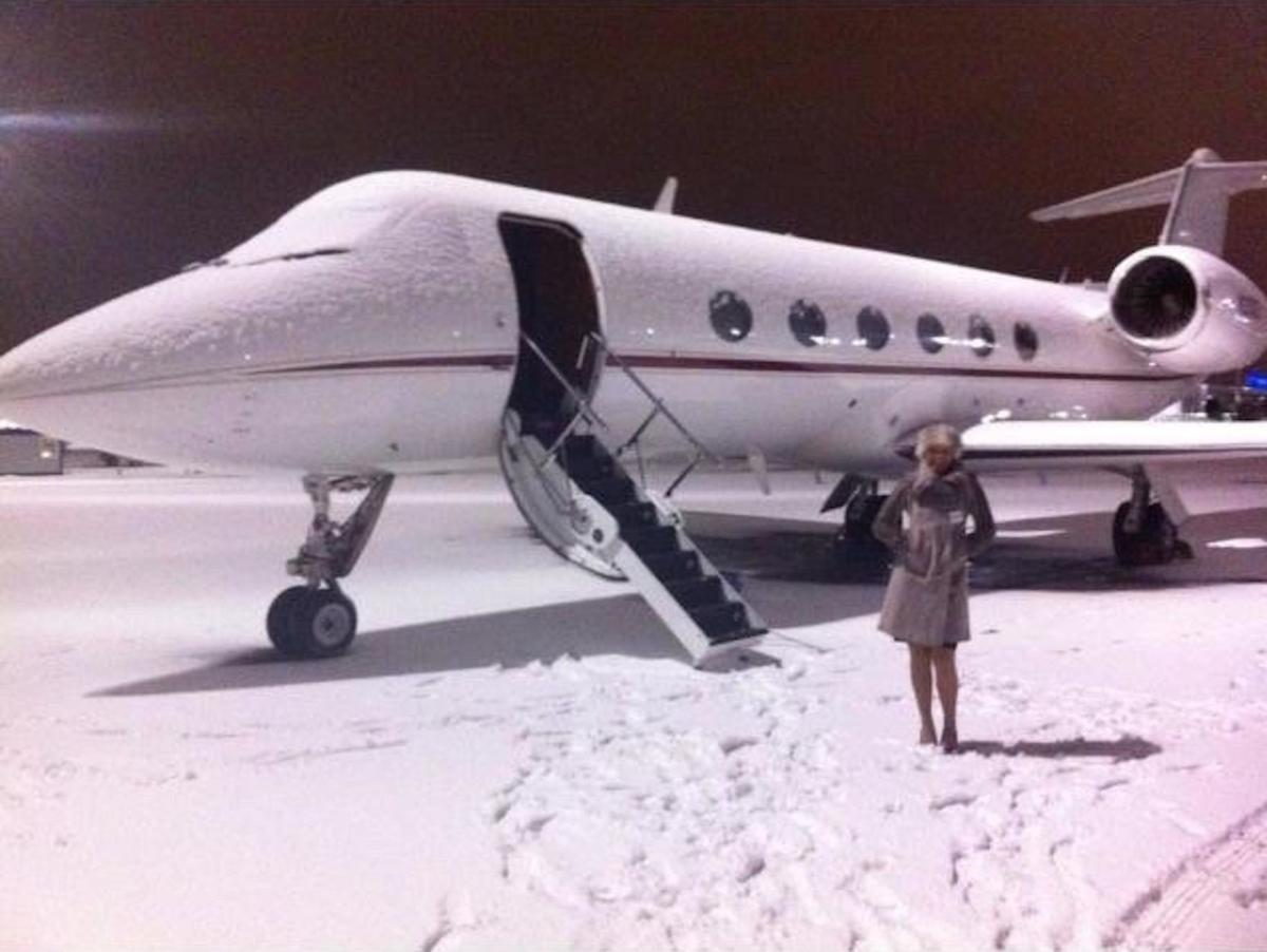VIP private jet flight attendant