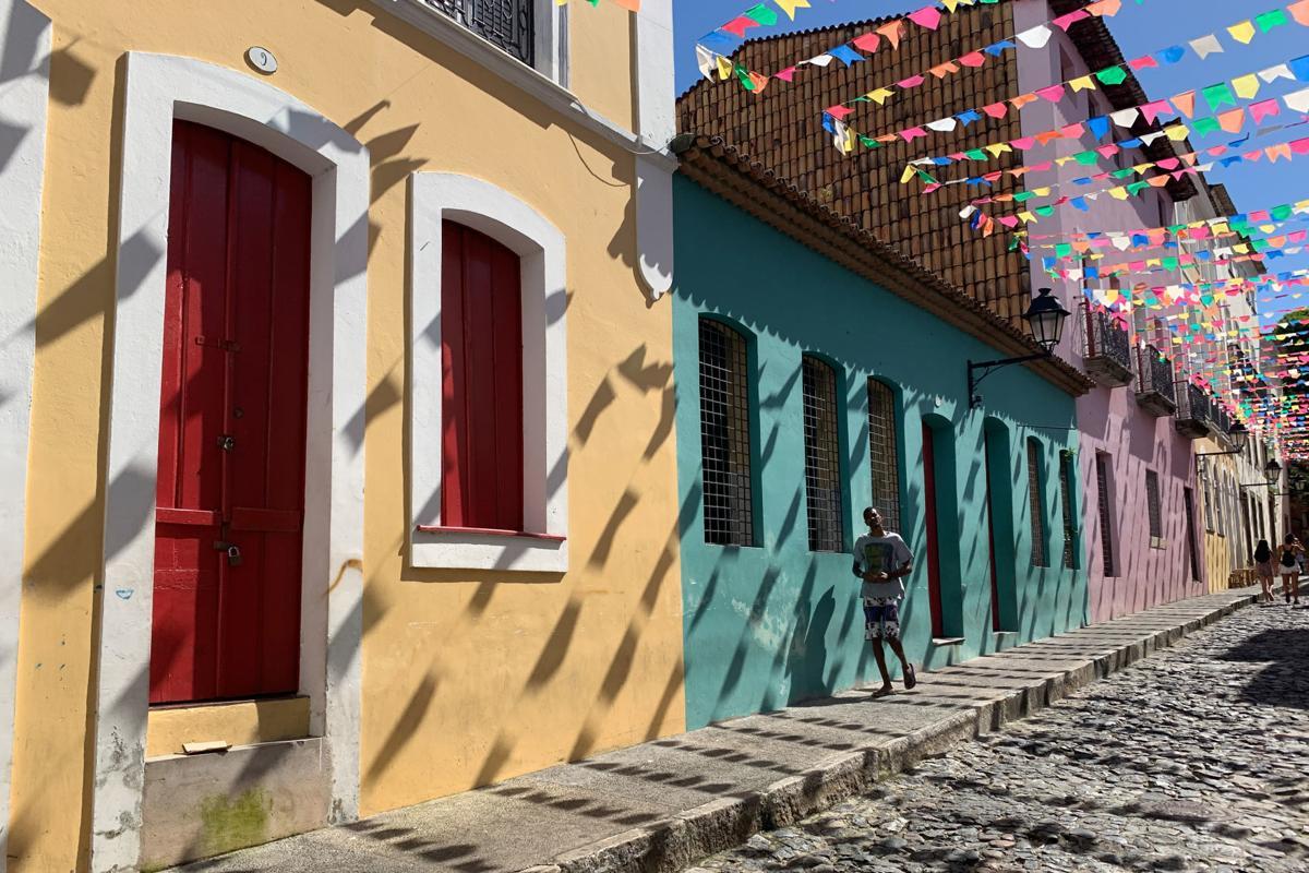 Pastel buildings