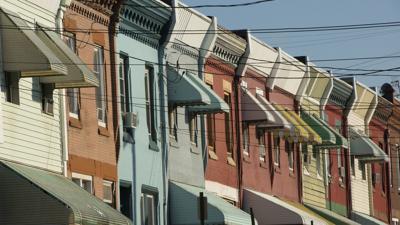 North Philadelphia rowhomes